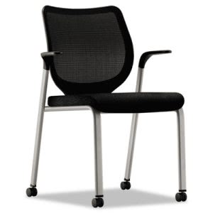 Hon Nucleus Multipurpose Chair, Black ilira-stretch M4 Back, Black Seat, Titanium (HONN606NT10T1)