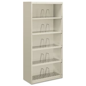 Hon 600 Series Jumbo Open File, 5-Shelf, Steel, Legal, 36w x 16-3/4d x 75-7/8h, Gray (HONJ625CNQ)