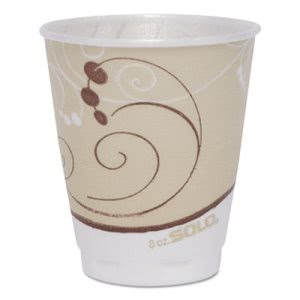 Solo Cup Design Foam Hot/Cold Cups, 8 oz., 300 per Carton (SCCOFX8NJ8002CT)