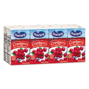 Ocean Spray Aseptic Juice Boxes, Cranberry, 4.2oz, 40/Carton (OCS23855)