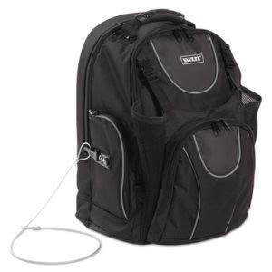 Vaultz Locking Backpack, 15 x 7 x 19, Black (IDEVZ00747)