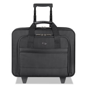 Solo Rolling Laptop Case, Poly, 16 x 6 1/2 x 15, Black (USLB1004)