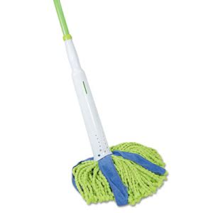 "Quickie Lysol Cone Mop Supreme, 31 3/4"" Steel Handle, Green/Blue (QCK59094M)"