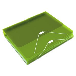 "Samsill DUO 2-in-1 Binder Organizer, 11 x 8 1/2, 1"" Capacity, Green (SAM10122)"