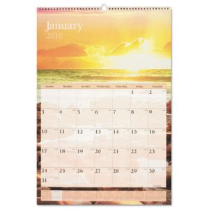 "At-a-glance Scenic Monthly Wall Calendar, 15 1/2"" x 22 3/4"", 2017 (AAGDMW20128)"