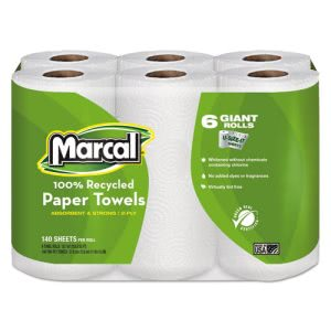 Marcal 6181 Kitchen 2-Ply Paper Towel Rolls, 24 Rolls (MRC6181CT)