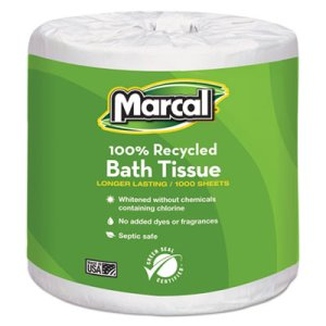 Marcal Standard 1-Ply Toilet Paper Rolls, 1000 Sheets/Roll, 40 Rolls (MRC4415)