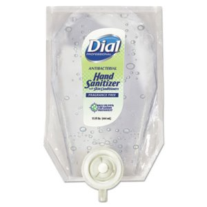 Dial Gel Hand Sanitizer Refill, Fragrance-Free, 15-oz Refill (DIA12257EA)