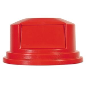 Rubbermaid 265788 Round Dome Lid for Brute 55 Gal Container, Red (RCP265788RED)