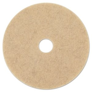 "Boardwalk Natural Hair 24"" Brown Floor Burnishing Pads, 5 Pads (BWK4024NHE)"