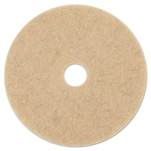 "Boardwalk Natural Hair 21"" Brown Floor Burnishing Pads, 5 Pads (BWK4021NHE)"