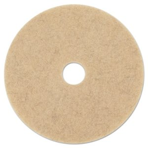 "Boardwalk Natural Hair 17"" Brown Floor Burnishing Pads, 5 Pads (BWK4017NHE)"