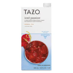 Tazo Iced Tea Concentrate, Iced Passion, 32 oz Tetra Pak (SBK11041593EA)