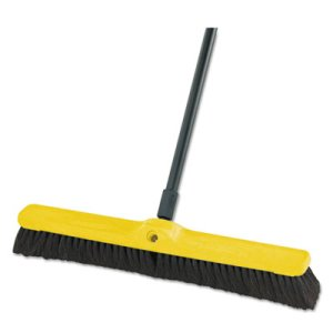 "Rubbermaid 9B03 Fine Floor Sweeper, 24"" Brush, 12 Broom Heads (RCP9B03BLACT)"