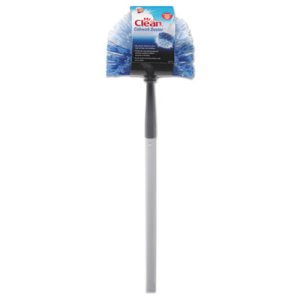 "Mr. Clean Telescopic Cobweb Duster, 60"" Handle, Blue/White (BUT444396)"
