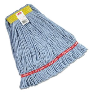 Rubbermaid A111 Web Foot Wet Mop Heads, Blue, Small, 6 Mops (RCPA111BLU)