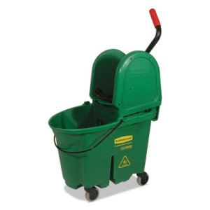 Rubbermaid 757888 WaveBrake Bucket/Wringer Combos, 35 qt, Green (RCP757888GRE)