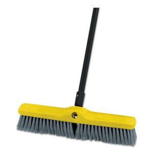 "Rubbermaid 9B08 Medium Floor Sweeper Head, 18"", 12 Broom Heads (RCP9B08GRACT)"