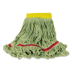 Rubbermaid C151 Swinger Loop Wet Mop Heads, Green, Small, 6 Mops (RCPC151GRE)