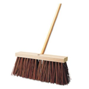 "Rubbermaid Street Broom, Palmyra Fill, 6"" Bristles, 16"" Block (RCP9B22BROEA)"