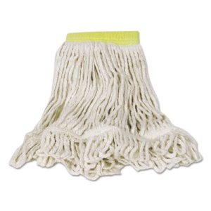 Rubbermaid D251 Super Stitch Blend Mop Heads, Small, White, 6 Mops (RCPD251WHI)