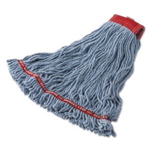 Rubbermaid C253 Swinger Loop Mop Heads, Blue, Large, 6 Mops (RCPC253BLU)