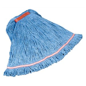 Rubbermaid C213 Swinger Loop Mop Heads, Blue, Large, 6 Mops (RCPC213BLU)