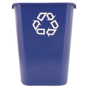 Rubbermaid 295773 Deskside 10 Gallon Recycling Container, Blue (RCP295773BLUE)