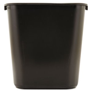Rubbermaid Deskside 7 Gallon Plastic Wastebasket, Black (RCP295600BK)