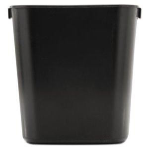 Rubbermaid 2955 Deskside Plastic 13 5/8 Quart Wastebasket, Black (RCP 2955 BLA)
