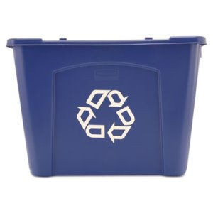 Rubbermaid 5714 14 Gallon Recycling Bin, Blue (RCP 5714-73 BLU)