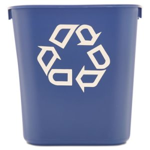Rubbermaid 2955-73 Small 3.5 Gallon Recycling Container, Blue (RCP 2955-73 BLU)