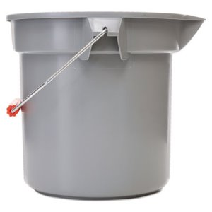 Rubbermaid 261400 Brute 14-Quart Utility Bucket, Gray (RCP261400GY)