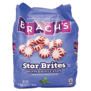 Brach's Star Brites Individually Wrapped Peppermint Candy, 58-oz Bag (BCH827132)