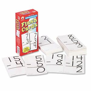 Carson-Dellosa Flash Cards, Subtraction Facts 0-12, 94 Cards (CDPCD3931)