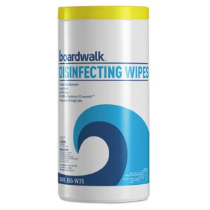 Boardwalk Disinfecting Wipes, Lemon Scent, 35/Canister, 12 Canisters (BWK455W35)
