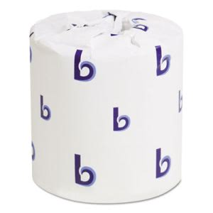Boardwalk One-Ply Toilet Tissue, Septic Safe, White, 1000 Sheets, 96 Rolls/Carton (BWK6170B)