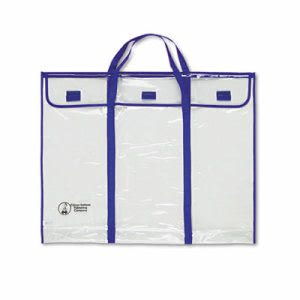 "Carson-Dellosa 30"" x 24"" Bulletin Board Storage Bag, Blue/Clear (CDPCD5638)"
