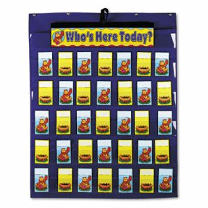Carson Attendance/Multiuse Chart, 35 Pockets/Two-Sided Cards, Blue (CDPCD5644)