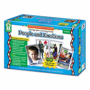 Carson-Dellosa Photographic Learning Cards, People and Emotions (CDPD44044)