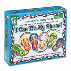 "Carson Publishing ""I Can Tie My Shoes!"" Lacing Cards, Ages 4 and Up (CDP846000)"