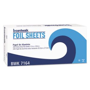 Boardwalk Single Pop-Up Aluminum Foil Sheets, 2400 Sheets (BWK7164)