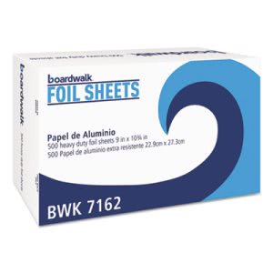 "Boardwalk Pop-Up Aluminum Foil Sheets, 9""x10-3/4"" Sheets, 6 Boxes (BWK 7162)"