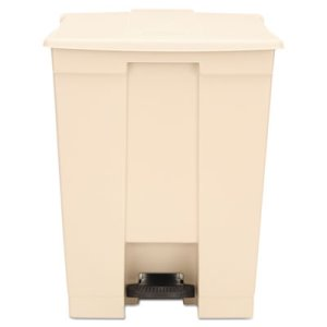 Rubbermaid 18 Gallon Step On Trash Can, Beige, Each  (RCP614500BG)
