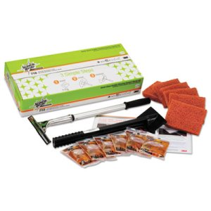 Scotch-brite Quick Clean Griddle Cleaning System Starter Kit (MMM85793)