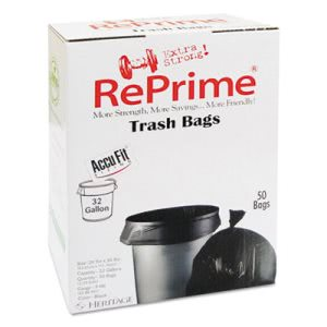 32 Gallon Black Garbage Bags, 44x33, 0.9 mil, 300 Bags (HERH6644TKRC1CT)