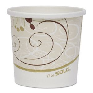 Solo Double Poly Paper 12-oz. Food Containers, 500 Containers (SCCH4125SYM)