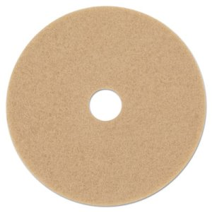 "3M Tan 19"" Floor Burnishing Pad 3400, Synthetic Fiber, 5 Pads (MMM05605)"