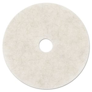 "3M Natural Blend White 20"" Floor Polishing Pad 3300, 5 Pads (MMM18210)"