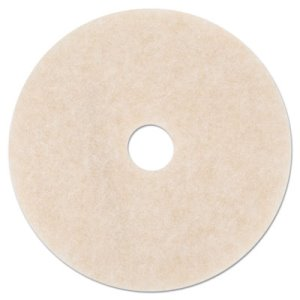 "3M TopLine Amber 19"" Floor Burnishing Pad 3200, 5 Pads (MMM18065)"